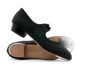 Black-Or-White-Canvas-Low-Heel-Tap-Dance-Shoes-All-Sizes-By-Katz-Dancewear