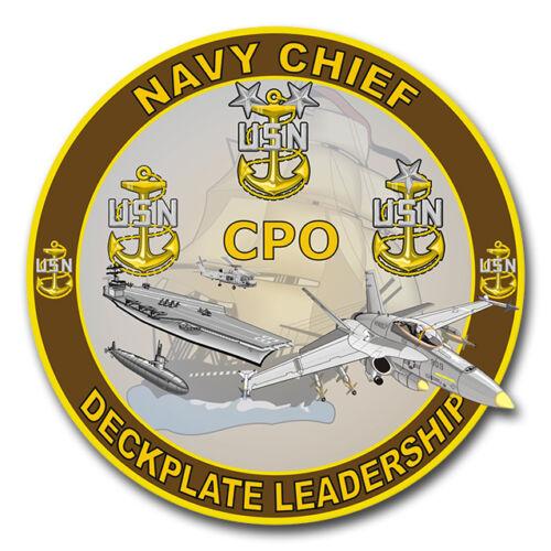 "Decal Navy Chief /'Deckplate Leadership/' 5.5/"" Die Cut Sticker"
