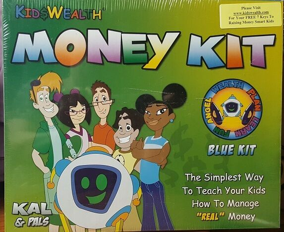 NEW Sealed Wealth Money bluee Kit -Teach Kids How to Manage & Value Money Success