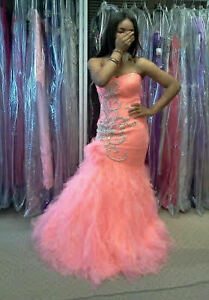 pink and silver mac duggal prom dress size 6
