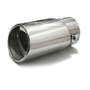 1x-Car-Exhaust-Trim-Tip-Muffler-Pipe-Silver-Chrome-Tail-Throat-Pipe-Accessory