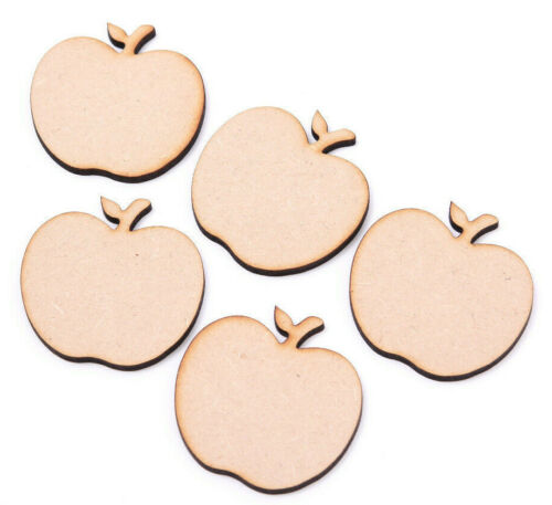 Wooden Mdf Apple Shapes Apples with leaf Best Teacher Apple Tag Craft Shape