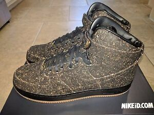 finest selection a26ea 1ec6b Image is loading Nike-Air-Force-1-High-Black-Cork-Championship-