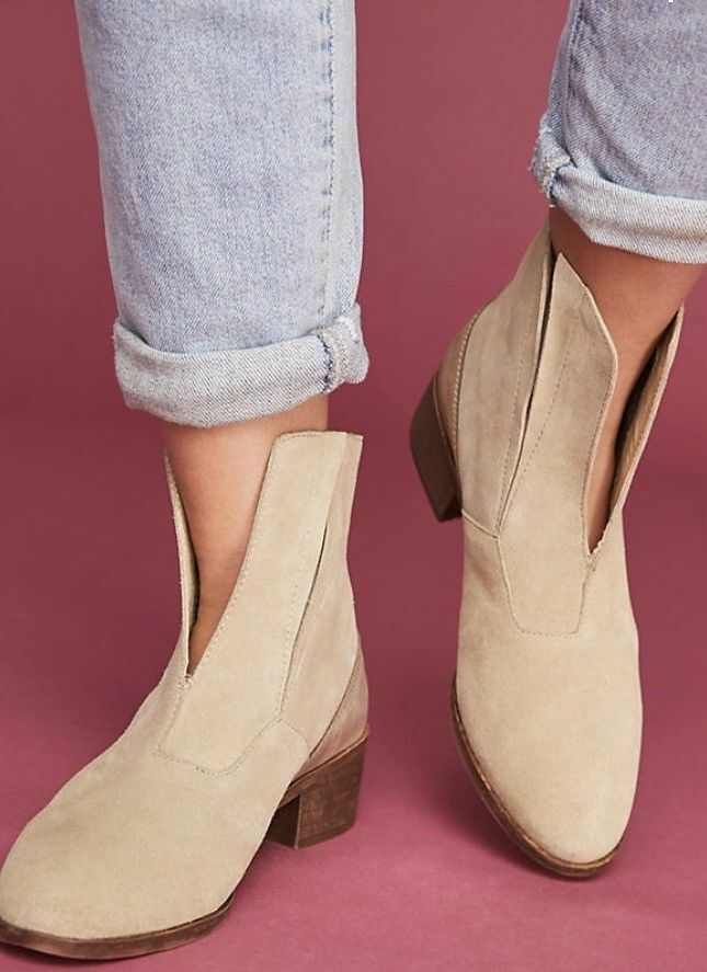Anthropologie MATISSE 8.5 Booties Stiefel CECILIA Ankle Suede Booties 8.5 Front Slit NIB 08d156