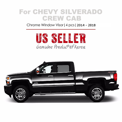 Window Deflectors Voron Glass in-Channel Extra Durable Rain Guards for Trucks Chevrolet Chevy Vent Window Visors Silverado//GMC Sierra 2014-2018 Crew Cab 220009 4 Pieces