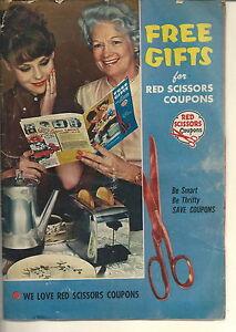 NF-085 - Vintage 1962 Red Scissors Coupons Premium Catalog Illustrated