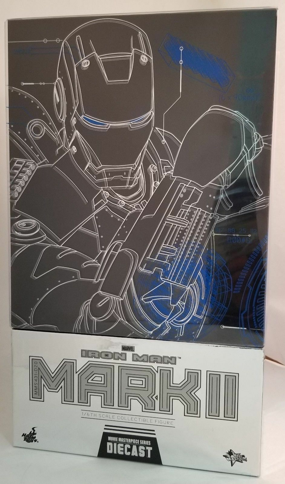 MARVEL Iron Man Mark II Action Figure 1/6 Hot Toys Sideshow DIECAST MMS 431 D-20