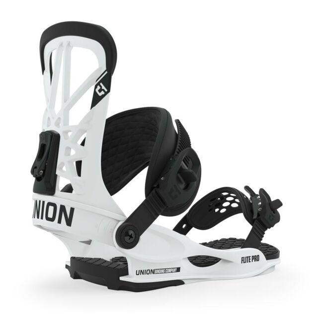 Union Flite Pro Snowboard Bindings Small White (US Men's Size 6-7.5) New 2020