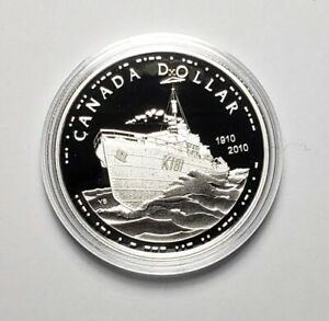 Canada 2010 Navy Ship .925 Sterling Silver $1.00 One Dollar Coin Proof