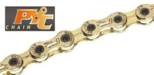 PYC 11-fach Fahrradkette 215 gr. für Sram, Shimano und Campagnolo gold.