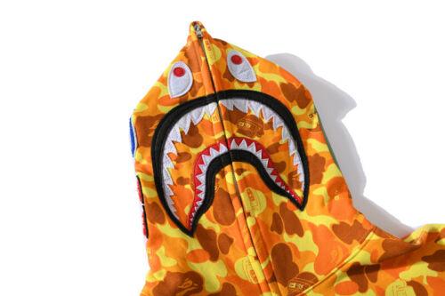 2020 Hot A Bathing Ape Bape Hoodie Cotton Splice Jacket Coats Camo 25th Annivers