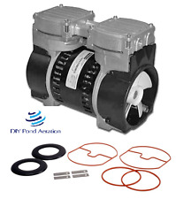 "3+cfm GAST Brand VACUUM PUMP 23""+hg compressor/veneer/aerate with Rebuild Kit"