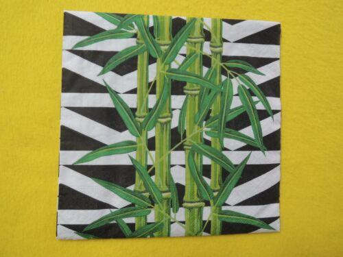 5 Servietten BAMBUS bamboo Serviettentechnik Motivservietten Pflanzen Muster