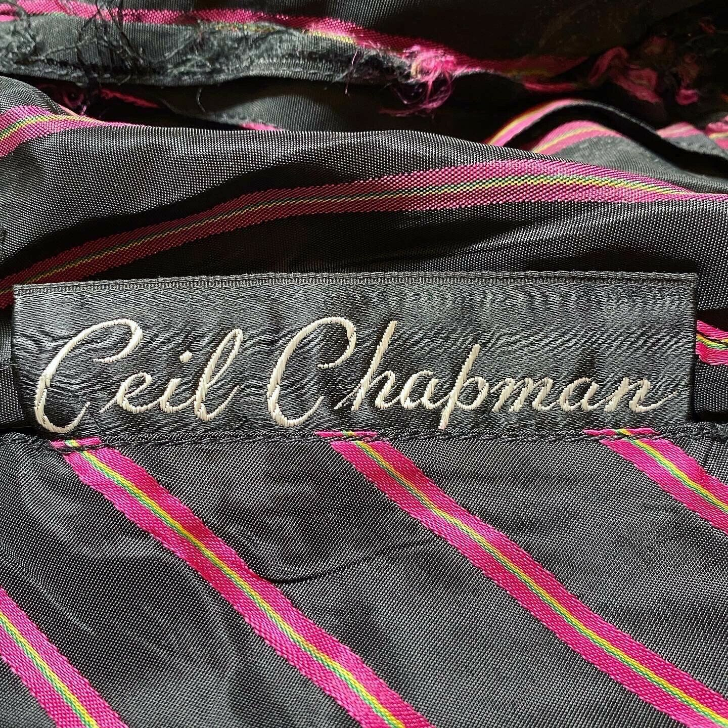 Vintage Rare Ceil Chapman  satin  stripe Fitted A… - image 3