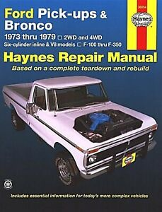 Ford-Pickups-F-150-F-250-F-350-Bronco-2WD-4WD-Repair-Manual-1973-1979