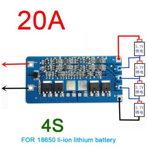 4S 20A Li-ion Lithium Cell 18650 Battery BMS Protection PCB Board 14.8V 16.8V SC
