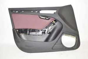 Audi-A5-8T-12-Tuer-Tuerverkleidung-Innen-VL-Vorne-Links-granatrot-Sportback