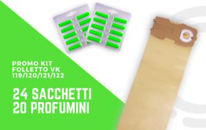 Kit Folletto vk119//120//121//12224 sacchetti 20 profumini