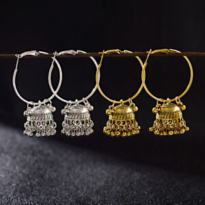 2-Pairs-Women-Silver-Gold-Plated-Jhumka-Indian-Unique-Ethnic-Drop-Stud-Earrings