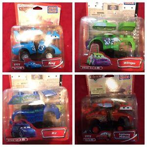 Disney-Pixar-Cars-Mega-Bloks-Lot-Of-8-Sally-Wingo-Sheriff-Doc-DJ-McQueen