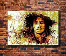 "Bob Marley /"" Light up the darkness/"" Quote Poster Print 7/""x21/"" On Matte Canvas"