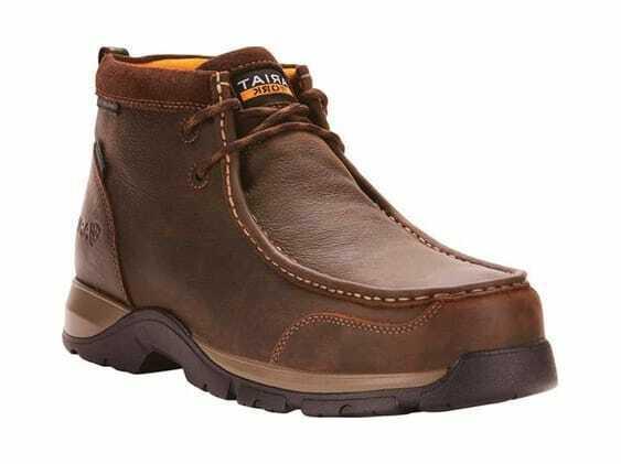 Ariat Men's Edge LTE Moc H2O Composite Toe Chukka Boot Dark Brown Leather