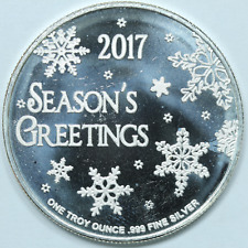 2020 Happy Holiday Snowman Coin 1oz Silver Christmas Round Mint Sealed D-12