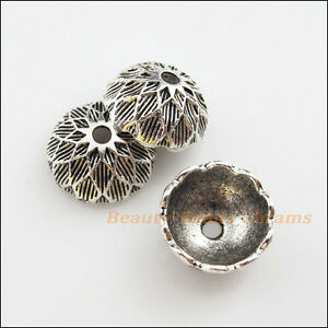 6Pcs-Tibetan-Silver-Tone-Flower-End-Bead-Caps-Craft-DIY-14mm