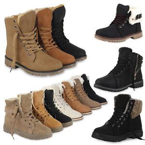 892733-Damen-Winter-Stiefeletten-Worker-Boots-Gefutterte-Stiefel-Schuhe