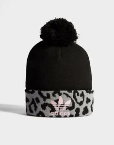 3a594569fc03 New adidas Originals Pom Leopard Beanie Black 4061617622005 | eBay
