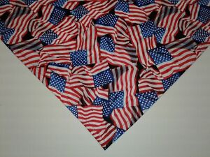 Details about Buster Brown Patriotic Dog Bandana, U S  Flags,Custom Made By  Linda,xS,S,M,L,xL