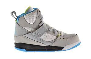 fd900b9016dc New Youth Air Jordan Flight 45 High PS Shoes (384521-016) Wolf ...