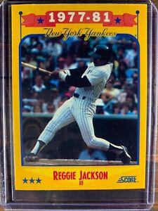 Reggie Jackson Baseball Card #502 Score New York Yankees MLB HOF Free Ship MINT
