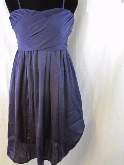 4b5a5e9a3e Tevolio Purple Women wedding beach party satin w straps Bridesmaid Dress  size 10