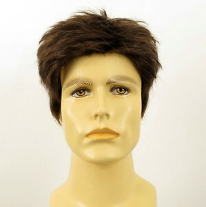 natural-hair-short-wig-for-man-light-brown-with-white-hair-ref-BENOIT-6SPW-PERU