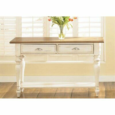 Liberty Furniture Ocean Isle Console Table In Bisque With Natural Pine Ebay