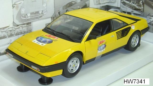 Ferrari Mondial 8 COUPE Amarillo 60TH aniversario fundación por Hot Wheels 1 18