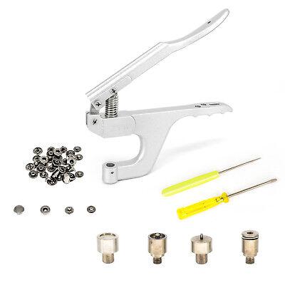 S Spring Snap Press Studs Fasteners Fixing Die Tool Set for Hand Held Plier UK