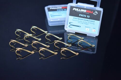 Fly tying hook FM75 00 Magni Double Black hooks,Fly tying tools,materials