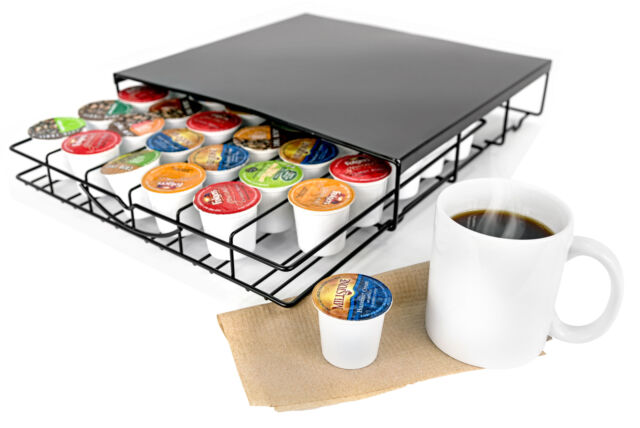 K-Cup Coffee Pod Counter Top Storage Drawer Fits Keurig Kcups Coffee Tea Cocoa