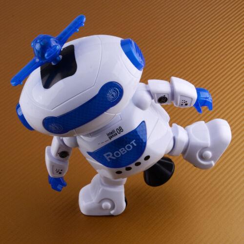 Kids Boys Rotating Smart Space Dance Robot Electronic Walking Toys Music Light