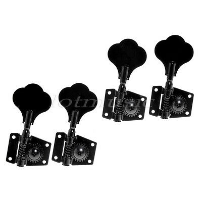 New 4R inline Black Large Machine Head Nickel For Jazz P Bass Tuning Pegs FB-01