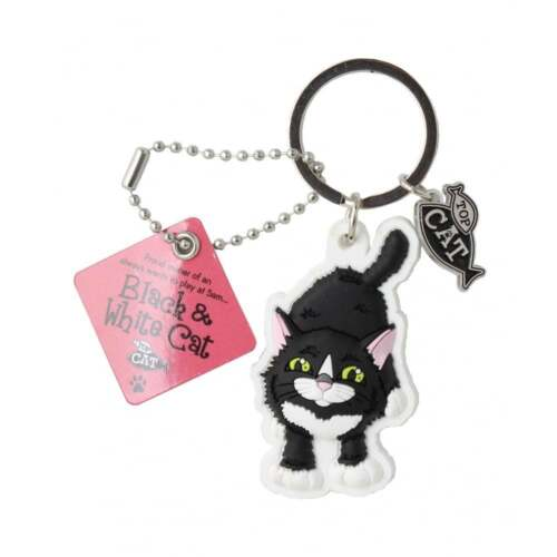 Wags /& Whiskers Cat Keyring Keychains New Select A Design From Drop Menu