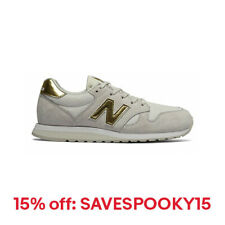 New Balance Women's 520 Shoes Off White with Yellow