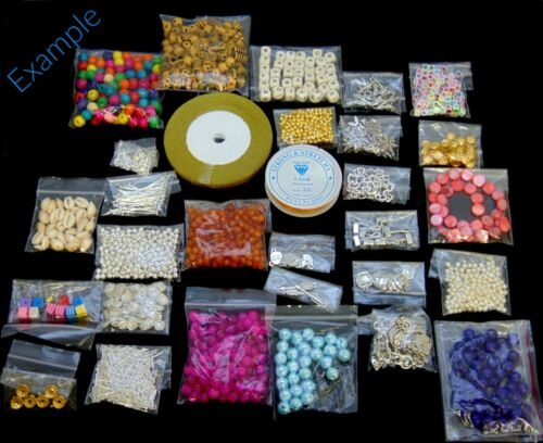 500g of Quality Mixed Beads Findings Glass Charms Tibetan PERFECT STARTER PACK
