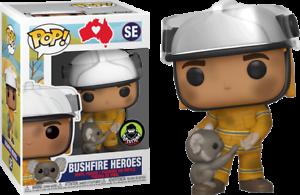 Bushfire-Heroes-Firefighter-with-Koala-Funko-Pop-Vinyl-New-in-Mint-Box-Protector