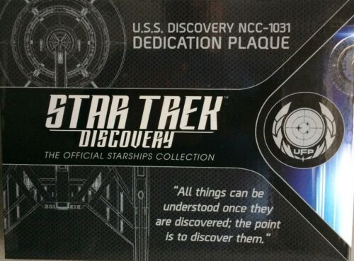 Star Trek Discovery U.S.S Discovery ncc-1031 PLACCA dedication PLACCA REPLICA