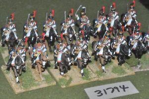 25mm Napoléon / Français - Cuirassiers 16 Figures Cav (31794)