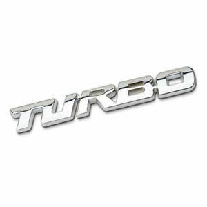 3D-TURBO-SCHRIFTZUG-EMBLEM-SILBER-METALL-STICKER-CAR-TUNING-AUTO-QUAD-AUFKLEBER