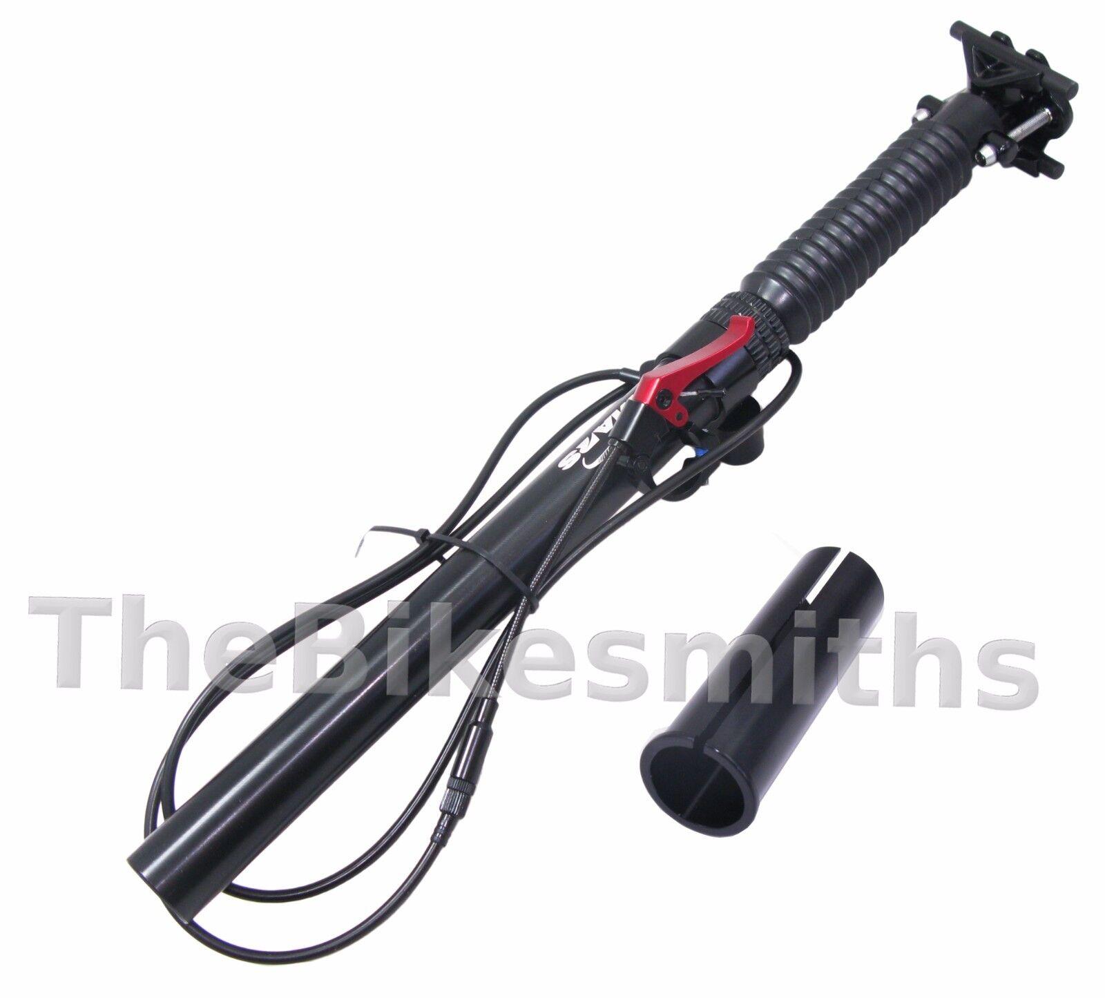 TMARS 419S 27.2     30.9   31.6mm  x 445mm Dropper Alloy Seatpost w  Remote Bike 4e9b0e